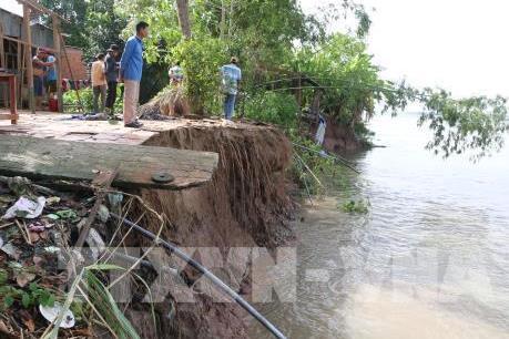 An Giang: Xuất hiện nhiều điểm sụt lún, sạt lở đất bờ sông