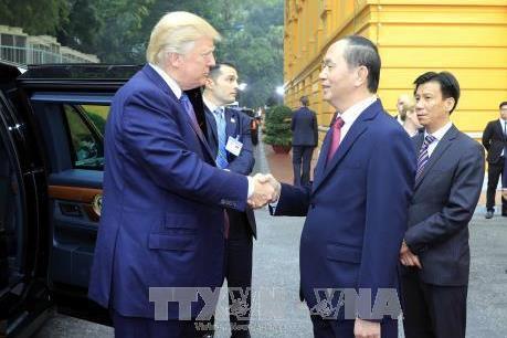 Nhà Trắng ra thông cáo hoan nghênh kết quả chuyến thăm Việt Nam của Tổng thống D.Trump