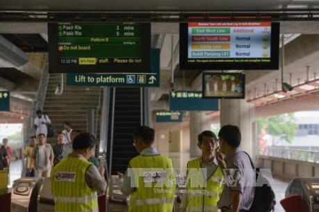 Va chạm tàu điện tại Singapore 25 người bị thương