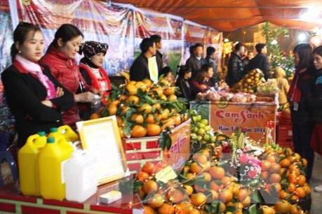 Lần đầu tỉnh Hưng Yên tổ chức hội chợ cam