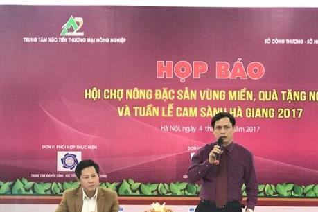 Sắp diễn ra hội chợ nông đặc sản vùng miền 2017 tại Hà Nội