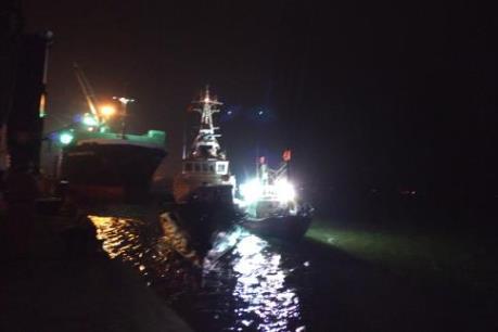 Cứu thành công 9 thuyền viên tàu cá NA 94113 TS bị nạn tại vùng biển Nghệ An