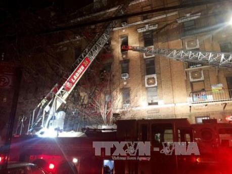 Lại xảy ra hỏa hoạn lớn ở New York, hàng chục người bị thương