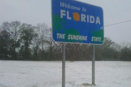 Bang Florida của Mỹ lần đầu có tuyết rơi sau gần 30 năm