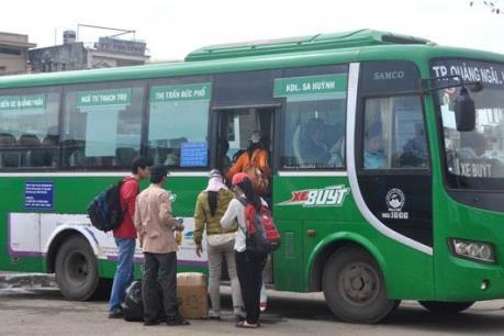 Quảng Ngãi đưa vào sử dụng xe buýt nội thành