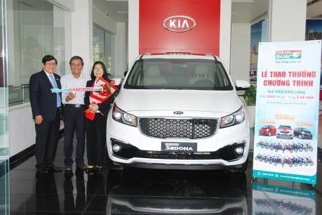 Kienlongbank trao thưởng 3 xe ô tô Kia cho khách hàng gửi tiền may mắn