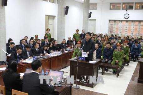Phiên tranh tụng xét xử sơ thẩm bị cáo Trịnh Xuân Thanh và đồng phạm chiều 13/1