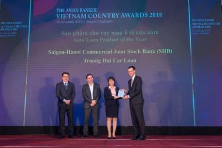 SHB nhận giải thưởng Ngân hàng có sản phẩm cho vay mua ô tô của năm