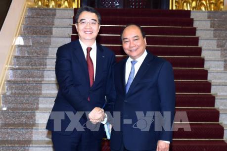 Thủ tướng Nguyễn Xuân Phúc tiếp Tổng Giám đốc Công ty Công nghiệp nặng Doosan Việt Nam