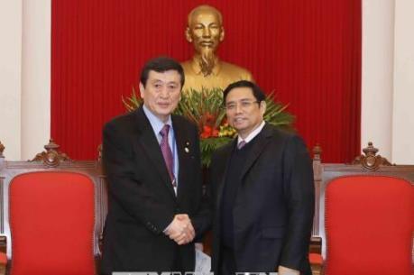 APPF-26: Trưởng Ban Tổ chức Trung ương Phạm Minh Chính tiếp Đoàn Nghị sĩ Quốc hội Nhật Bản