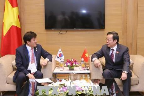 APPF-26: Phó Chủ tịch Quốc hội Phùng Quốc Hiển tiếp Đoàn đại biểu Quốc hội Hàn Quốc