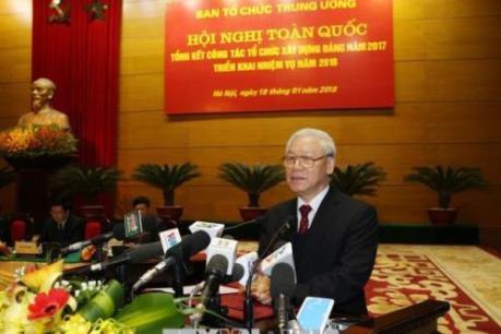 Tổng Bí thư Nguyễn Phú Trọng: Kiên quyết chống tham nhũng trong công tác cán bộ