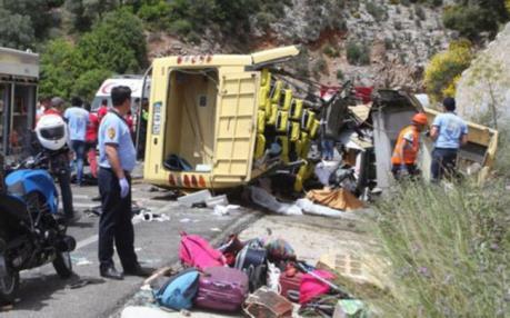 Tai nạn xe khách thảm khốc tại Thổ Nhĩ Kỳ gần 60 người thương vong