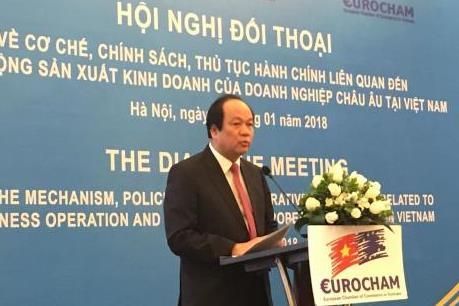 Đối thoại chính sách với doanh nghiệp EU tại Việt Nam