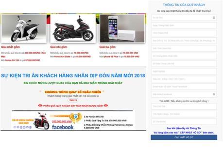 Phát hiện 700 tên miền điện tử được sử dụng để lừa đảo khách hàng nhân dịp Tết