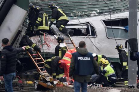 Tai nạn đường sắt nghiêm trọng tại ngoại ô Milan khiến hơn 100 người thương vong