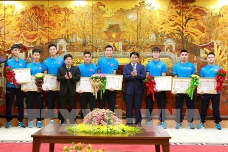 Lãnh đạo Hà Nội gặp mặt, khen thưởng Đội tuyển U23 Việt Nam