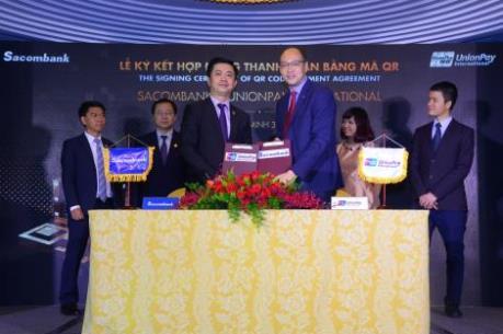 Ngân hàng đầu tiên tại Việt Nam triển khai thanh toán bằng mã QR của UnionPay