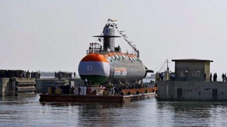 Ấn Độ hạ thủy tàu ngầm lớp Scorpene thứ 3