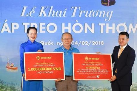 Sun Group tặng 1,5 tỷ đồng và kỳ nghỉ dưỡng cho U23 Việt Nam và VFF