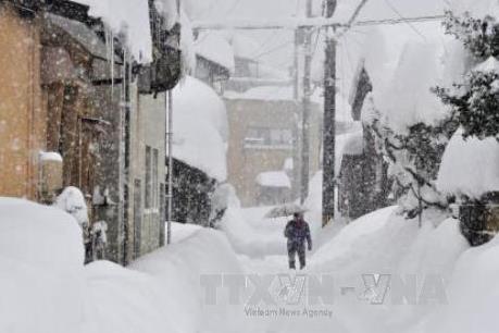 Tuyết rơi dày tại Nhât Bản khiến hàng nghìn ô tô bị kẹt trên đường