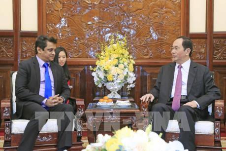 Chủ tịch nước Trần Đại Quang tiếp Tổng Giám đốc TATA tại Việt Nam