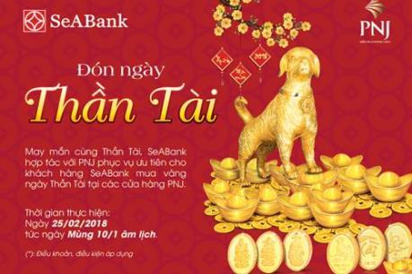 Khách hàng SeABank mua vàng ngày vía thần tài không phải xếp hàng