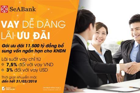 SeABank dành nguồn vốn ưu đãi 1.500 tỷ đồng cho doanh nghiệp