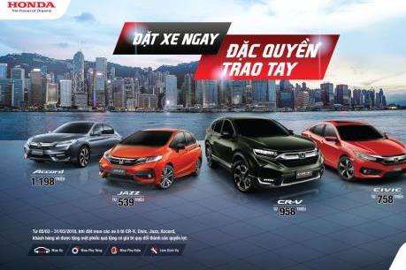 Honda công bố giá xe nhập khẩu với mức giá giảm mạnh