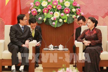 Chủ tịch Quốc hội Nguyễn Thị Kim Ngân tiếp Phó Chủ tịch Quốc hội Myanmar