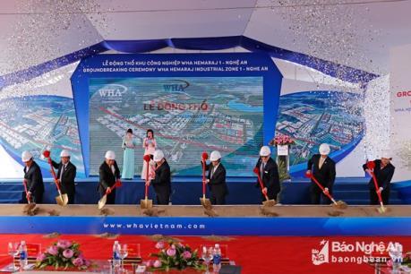 Nghệ An: Khởi công Khu công nghiệp WHA Hemaraj