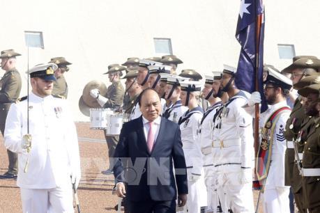 Lễ đón chính thức Thủ tướng Nguyễn Xuân Phúc thăm Australia