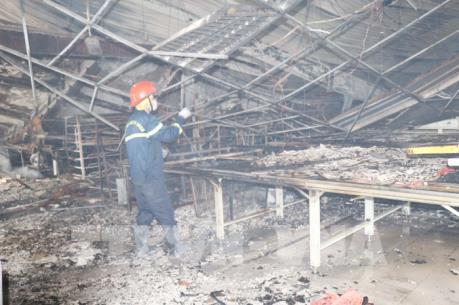 Cháy lớn tại Công ty may Vina Korea, Vĩnh Phúc: Thiệt hại về vật chất rất lớn