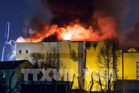 Vụ cháy trung tâm thương mại ở Nga: Có các biện pháp bảo hộ công dân Việt Nam