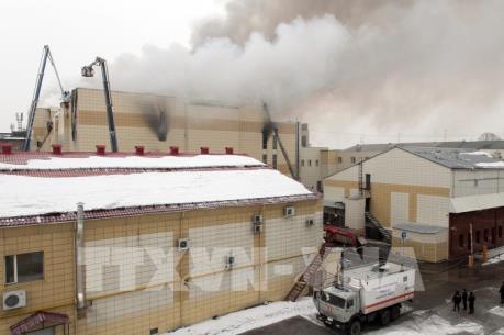 Vụ cháy trung tâm thương mại ở Nga: 4 người bị bắt giữ phục vụ điều tra