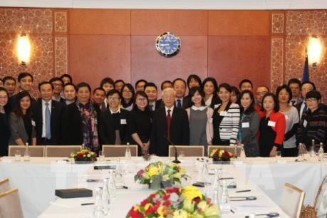 Tổng Bí thư Nguyễn Phú Trọng gặp gỡ trí thức trẻ Việt Nam tại Pháp