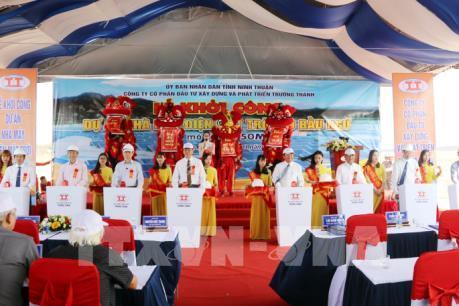 Khởi công dự án điện mặt trời với tổng vốn 1.150 tỷ đồng tại Ninh Thuận