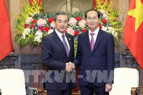 Chủ tịch nước Trần Đại Quang tiếp Bộ trưởng Ngoại giao Trung Quốc Vương Nghị