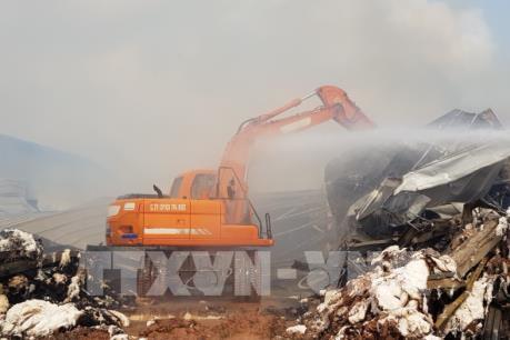 Chưa thể xác định chính xác thiệt hại từ vụ cháy Nhà máy sản xuất sợi tại Quảng Ninh