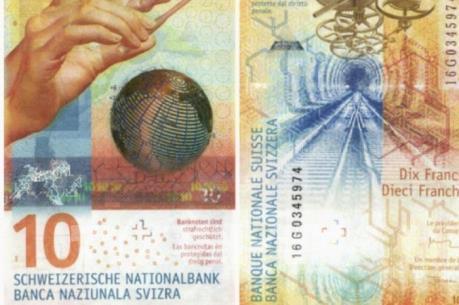 Tờ tiền mệnh giá 10 franc Thụy Sỹ được bình chọn đẹp nhất thế giới