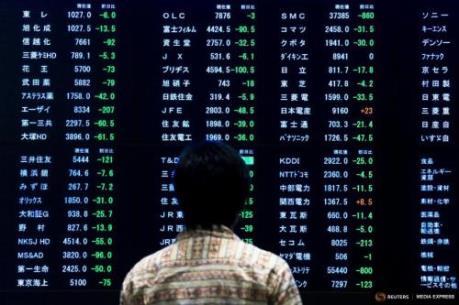 """Chứng khoán châu Á """"xanh sàn"""" nhờ thị trường Mỹ"""