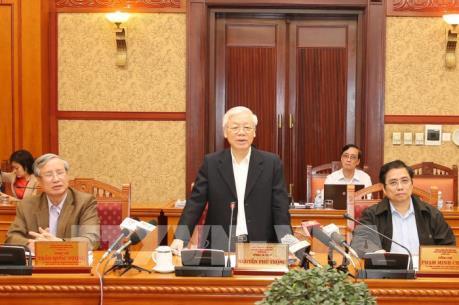 Ban Bí thư cho ý kiến về kết quả 5 đoàn kiểm tra việc thực hiện Nghị quyết Trung ương