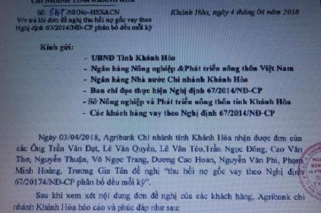 Agribank Khánh Hoà phản hồi kiến nghị của ngư dân liên quan đến vốn đóng tàu