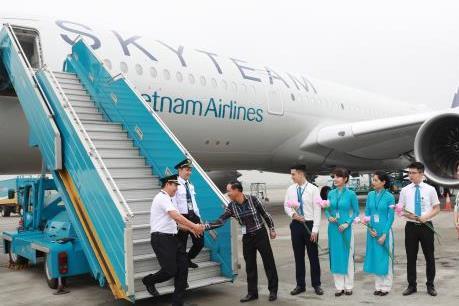 Vietnam Airlines đón máy bay A350 thứ 12 đặc biệt mang dấu ấn SkyTeam