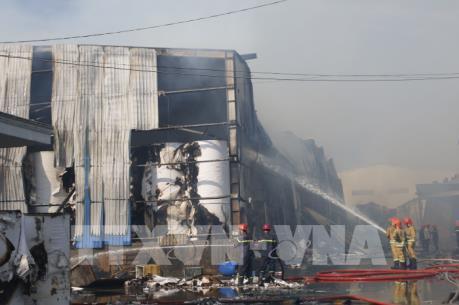 Cháy lớn tại Khu Công nghiệp Vĩnh Lộc, Thành phố Hồ Chí Minh