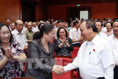 Thủ tướng Chính phủ Nguyễn Xuân Phúc tiếp xúc cử tri tại thành phố Hải Phòng