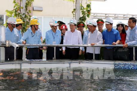 Phó Thủ tướng Trịnh Đình Dũng kiểm tra hoạt động khai thác hải sản tại Hà Tĩnh