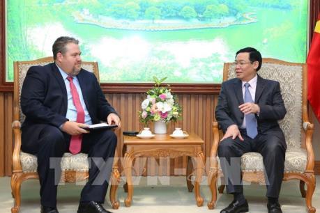 PTT Vương Đình Huệ tiếp TGĐ phụ trách thị trường Việt Nam, Công ty Năng lượng AES (Hoa Kỳ)