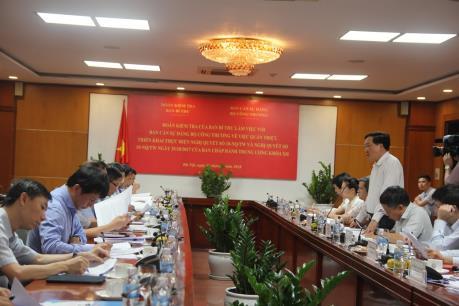 Đoàn kiểm tra của Ban Bí thư làm việc với Ban cán sự Đảng Bộ Công Thương