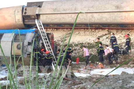 Vụ tai nạn đường sắt ở Thanh Hóa: Phó Thủ tướng Trương Hòa Bình yêu cầu khắc phục hậu quả